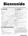 Welcome Form Spanish Version
