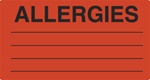 "MAP1630    Fl-Red ""Allergies""    3-1/4""x1-3/4"""