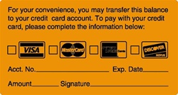 """Transfer-Balance Credit Card"" Label"