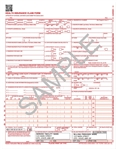 WCMS1500CS12 claim form, laser cut sheet