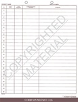 **DISCONTINUED** 27006  Correspondence Log Form - Steno Style