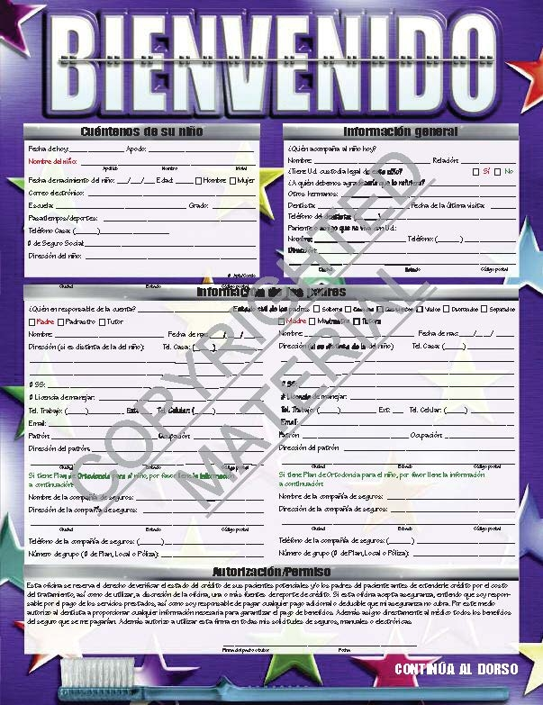 Orthodontic welcomeregistration form spanish version low resolution views altavistaventures Image collections